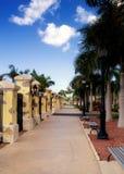 'promenade' de la isla caribeña Imagen de archivo libre de regalías