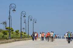 'promenade' de la orilla del mar del casino, Constanta, Rumania Imagen de archivo libre de regalías