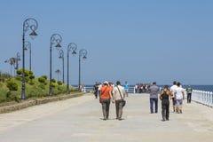 'promenade' de la orilla del mar del casino, Constanta, Rumania Fotografía de archivo
