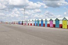 'promenade' de la orilla del mar. Levantado. Sussex.UK imagen de archivo