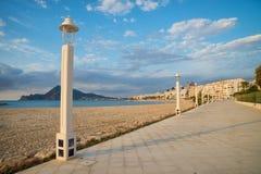 'promenade' de la playa de Altea Imagen de archivo libre de regalías