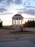 'promenade' de la playa de Livorno Italia en la oscuridad Imagen de archivo libre de regalías