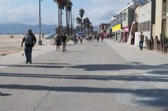 'promenade' de la playa de Venecia imagen de archivo