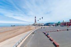 Promenade de la Reine de Blackpool Image libre de droits