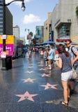 Promenade de la renommée Photo libre de droits