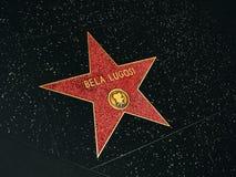 Promenade de la renommée, Bela Lugosi Photo stock