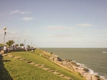 Promenade de Mar del Plata Photos stock
