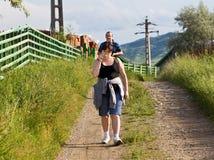 Promenade de matin Image libre de droits