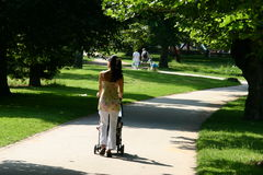 Promenade de matin Image stock
