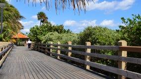 Promenade de Miami Beach banque de vidéos