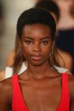 Promenade de modèles la finale de piste portant Ralph Lauren Spring 2016 pendant la semaine de mode de New York Images libres de droits