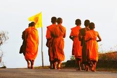 Promenade de moines pendant le matin photo libre de droits