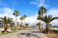 Promenade de Molos à Limassol, Chypre Image libre de droits
