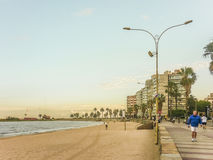 Promenade de Montevideo Image stock