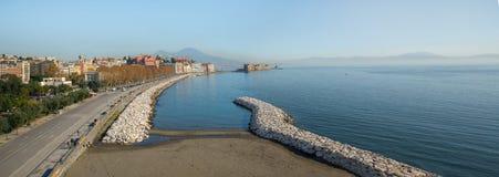 'promenade' de Nápoles imagenes de archivo