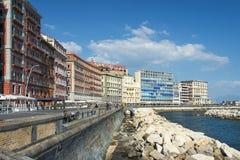'promenade' de Nápoles, Italia Foto de archivo libre de regalías