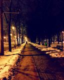 Promenade de nuit, RO de ploiesti Images libres de droits
