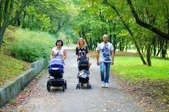 Promenade de parc Images libres de droits