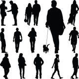 Promenade de personnes Photo libre de droits