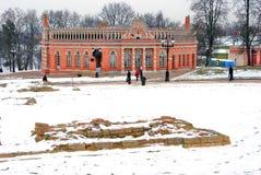Promenade de personnes en parc de Tsaritsyno à Moscou Images stock