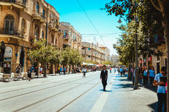 Promenade de Photoshot sur Jérusalem Image libre de droits
