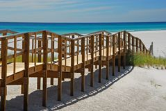 Promenade de plage Photos libres de droits