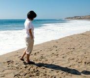 promenade de plage Photo libre de droits