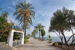Promenade de plage de Figueretas Photo stock