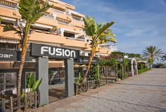Promenade de plage de Figueretas Images stock