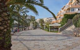 Promenade de plage de Figueretas Photo libre de droits