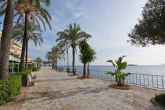 Promenade de plage de Figueretas Photographie stock libre de droits