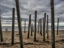 Promenade de plage près d'Esbjerg, Danemark photographie stock libre de droits