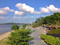 Promenade de point de Punggol Photos libres de droits