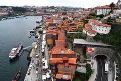 Promenade de Porto, Portugal images libres de droits