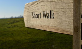 Promenade de randonneurs Photos libres de droits