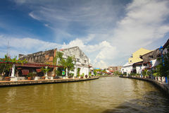 Promenade de rive de Melaka image libre de droits