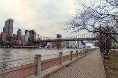 Promenade de Roosevelt Island photographie stock