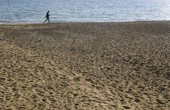 Promenade de sable Photo stock