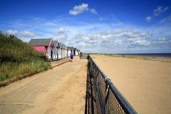'promenade' de Sandilands, Sutton en el mar Imágenes de archivo libres de regalías