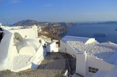 'promenade' de Santorini Imagen de archivo libre de regalías