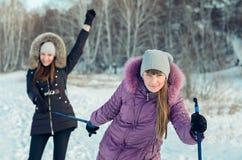 Promenade de ski. Photos libres de droits