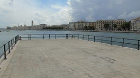 Promenade in de stad van Bari Royalty-vrije Stock Foto