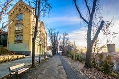 'promenade' de Strossmayer en Zagreb, Croacia imagen de archivo libre de regalías