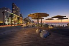 Promenade de Tel Aviv Photos libres de droits