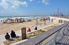 Promenade de Tel Aviv dans le téléphone Aviv Israel Photo libre de droits