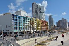 Promenade de Tel Aviv dans le téléphone Aviv Israel Image libre de droits