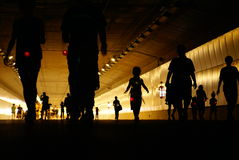 Promenade de tunnel image libre de droits