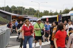 Promenade de tunnel de manière de legs de Brisbane Photographie stock libre de droits