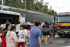 Promenade de tunnel de manière de legs de Brisbane Photos libres de droits