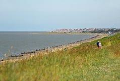 Promenade de vacances dans Kent whitstable Image libre de droits